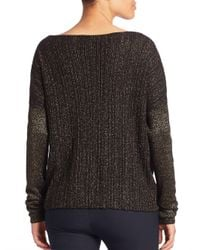 10 Crosby Derek Lam - Black Long Sleeve Cross-front Sweater - Lyst