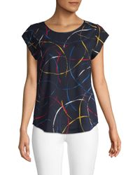 Joie Blue Rancher Printed Top