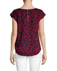 Joie Red Rancher Abstract Print Blouse