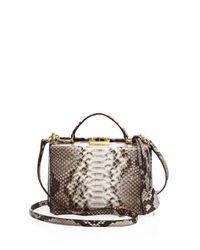 Mark Cross - Pink Grace Small Leather Box Crossbody Bag - Lyst