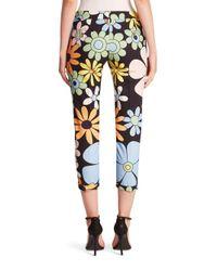 Thom Browne Black Floral Printed Pants