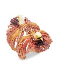 Valentino Multicolor Dual Eagle Head Cuff Bracelet
