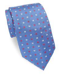 Brioni - Blue Rib-knit Silk Tie for Men - Lyst