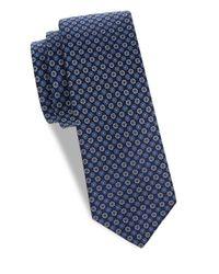 Eton of Sweden - Blue Floral Silk Tie for Men - Lyst