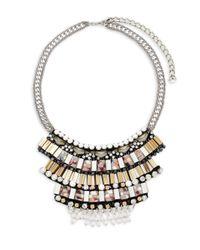 Nocturne - Multicolor Crystal Nazim Stowe Bib Necklace - Lyst