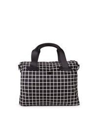 Emporio Armani - Black Check-print Tote for Men - Lyst