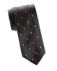 Polo Ralph Lauren Gray Madison Lion Silk Tie for men