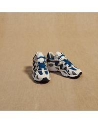 Baskets mix matières Sandro pour homme en coloris Blue