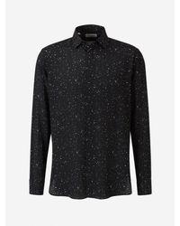 Camisa Seda Saint Laurent de hombre de color Black