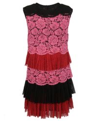 Philosophy - Red Lace Dress - Lyst