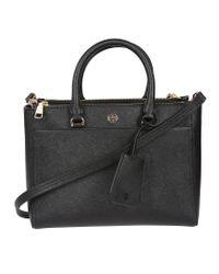 Tory Burch - Black Robinson Small Double Zip Shoulder Bag - Lyst