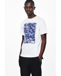 Saturdays NYC | White Ash Pattern Fill T-shirt for Men | Lyst