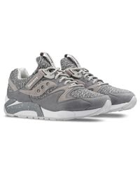 Saucony Gray Grid 9000 Knit for men