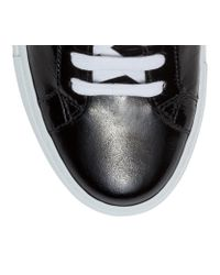 Givenchy Urban Street Black Patent Sneakers