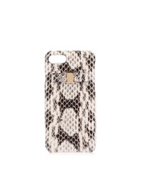 Ferragamo Black Roccia Elaphe Iphone 7 Case