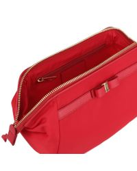 Ferragamo Red Nylon Cosmetic Bag Us
