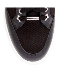Jimmy Choo Miami Black Leather Logo Sneakers for men