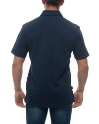 Polo manica corta Blu Cotone di Woolrich in Blue da Uomo