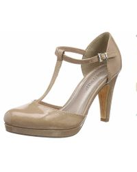 Marco Tozzi Natural Hochfront-Pumps