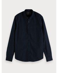 Scotch & Soda Oxford-overhemd Met Print in het Blue voor heren