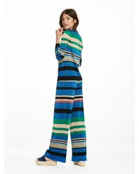 Scotch & Soda - Blue Striped Knitted Trousers - Lyst