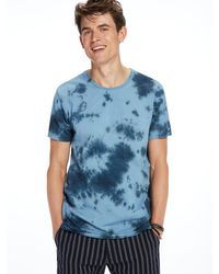 Scotch & Soda | Blue Tie-dyed Tee for Men | Lyst