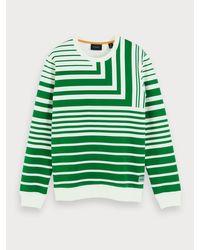 Scotch & Soda Sweater Met All-over Print in het Green voor heren