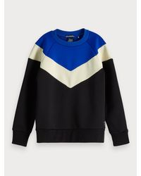 Sweat-shirt color-block Scotch & Soda pour homme en coloris Black