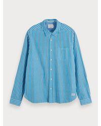 Chemise rayée Scotch & Soda pour homme en coloris Blue