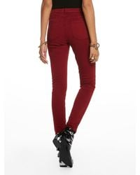 Scotch & Soda Red La Bohemienne - Colour Roulette Mid-rise Skinny Fit