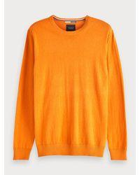 Pull uni Scotch & Soda pour homme en coloris Orange