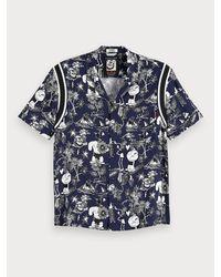 Scotch & Soda Hawaii-Shirt mit Artwork in Blue für Herren