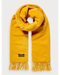 Scotch & Soda Klassieke Wollen Sjaal in het Yellow