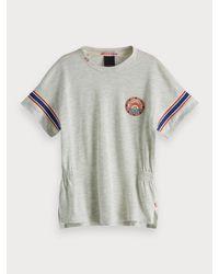 T-shirt en mélange de coton Scotch & Soda en coloris Gray