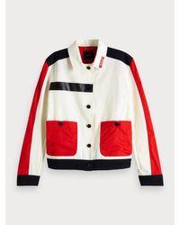 Scotch & Soda Red Worker-Jacke mit Colorblock