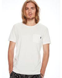 Scotch & Soda White Garment Dyed T-shirt for men