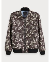 Scotch & Soda Multicolor Nylon Harrington Jacket for men
