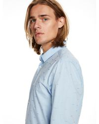 Scotch & Soda - Blue Special Weave Shirt Slim Fit for Men - Lyst