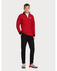 Scotch & Soda Doorgestikte Sweater in het Red voor heren