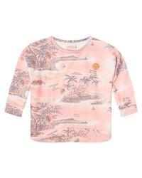 Scotch & Soda Multicolor Boxy Souvenir Print Sweat Shirt
