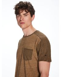 Scotch & Soda - Natural Combined Oil Washed T-shirt for Men - Lyst
