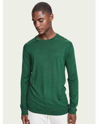 Scotch & Soda Sweater Van Merinowol Met Lange Mouwen in het Green voor heren