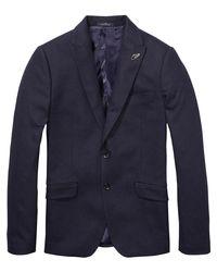 Scotch & Soda - Blue Basic Wool Blazer for Men - Lyst