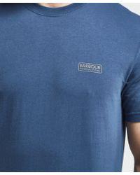 Barbour | Blue International Small Logo Short Sleeve T-shirt for Men | Lyst
