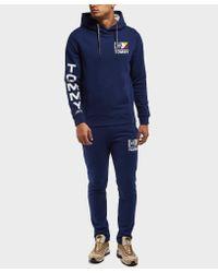 Tommy Hilfiger Blue Retro Logo Cuffed Track Pants for men