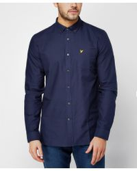 Lyle & Scott - Blue Long Sleeve Oxford Shirt for Men - Lyst