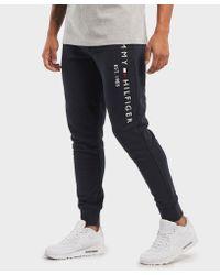 Tommy Hilfiger Multicolor Logo Cuffed Fleece Pants for men