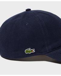 Lacoste - Blue Pique Croc Cap for Men - Lyst