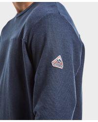 Pyrenex Blue Crew Neck Sweatshirt for men