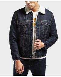 Levi's Multicolor Sherpa Denim Jacket for men